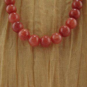 Rhodonite Bead Necklace