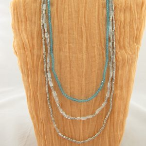 Multi-strand Blue Topaz Necklace