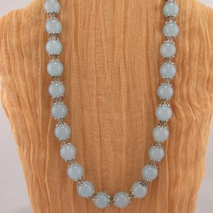 Aquamarine Bead Necklace