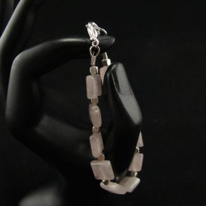 Polished Rose Quartz Bracelet