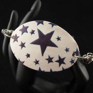 Faux Enamel Stars Bracelet
