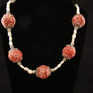 Tribal Design Necklace with Mother of Pearl