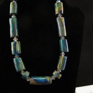 Handmade Peacock Tube Beads