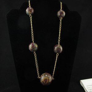 'Jungle' Pattern Graduated Beads