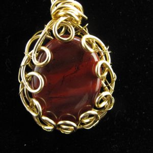 Gold Wire Wrapped Jasper 38.00 cts