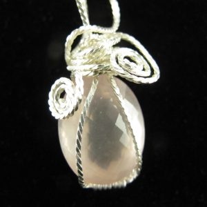 Wire Wrapped Faceted Rose Quartz 29.56 cts