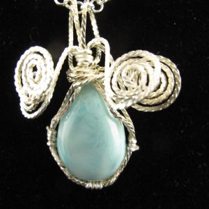 Wire Wrapped Larimar 20 cts