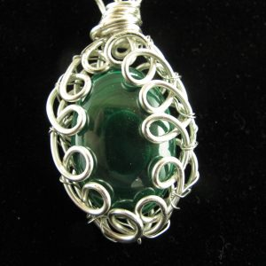 Wire Wrapped Malachite 48.20 cts