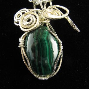 Wire Wrapped Malachite 37.07 cts
