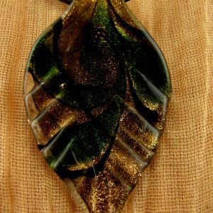 Glass Leaf Pendant