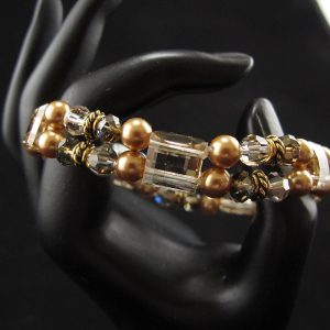 Swarovski Stretch Bracelet – 'Golden Shadow'