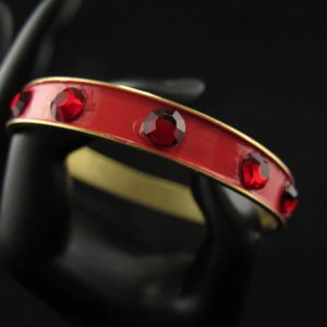 Red Swarovski Studded Bangle