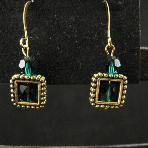 Swarovski Framed 'Emerald' Square Beads