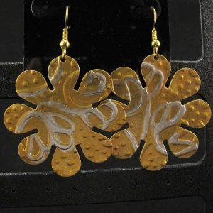 Gold & Silver Patterned Brass Flower
