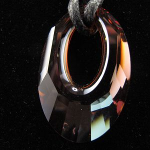 Swarovski 'Helios' Crystal Pendant – Copper Coloured