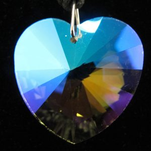 Faceted Crystal Heart Pendant