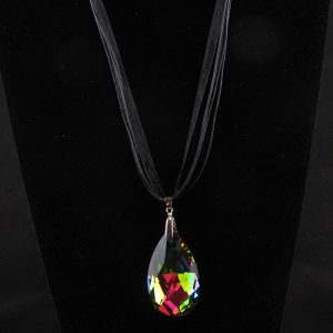 Faceted Teardrop Crystal Pendant