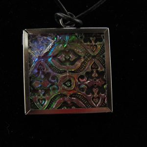Faux Dichroic glass Moroccan tile