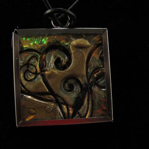 Faux Dichroic glass swirls