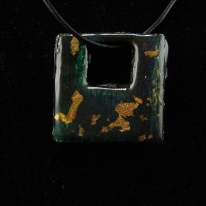 Faux Dichroic Glass in Square Shape
