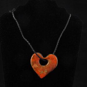 Faux Dichroic Glass Heart Shape