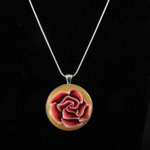 3-D Rose in Bezel