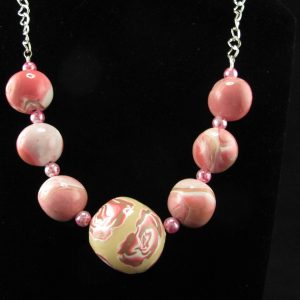 XL Millefiori & Marbled Beads Necklace