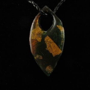 Faux Dichroic Glass in Leaf Shape