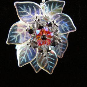 Crystal AB 'Leaf' Pendant