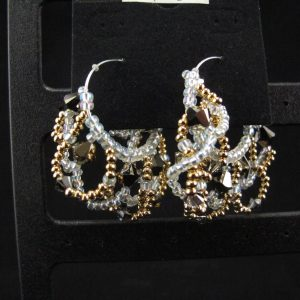 Loopy Earrings with Swarovski Crystals