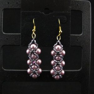 Swarovski Montee embellished Pearl Earrings