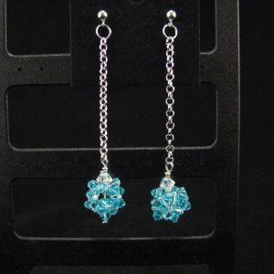 Swarovski Blue Crystal Bead Dangle