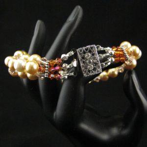 Swarovski Pearl Flower Bracelet