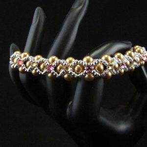 Montee embellished Swarovski Pearl Bracelet