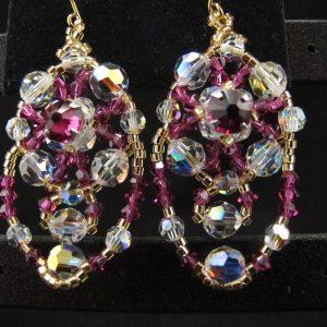 Swarovski Draped Earrings