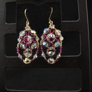 Swarovski Draped Earrings