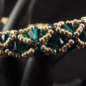 Swarovski Emerald Green Netted Bracelet