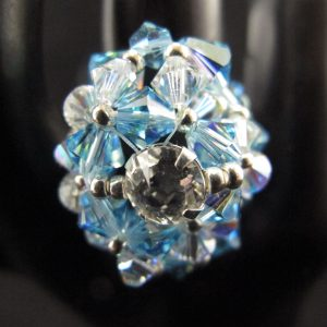 Swarovski 'Aqua' Dome Ring