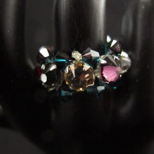Multi-Colour Swarovski Montee Ring