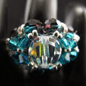 Swarovski 'Blue Zircon' Bling Ball Ring