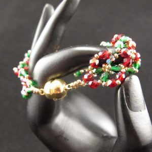 Swarovski Red & Green Christmas Bracelet