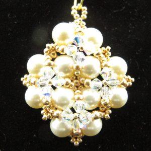 Swarovski Pearl and Crystal Snowflake Pendant