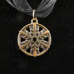 22K Gold Plated Snowflake Pendant