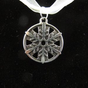 Silver Plated Snowflake Pendant