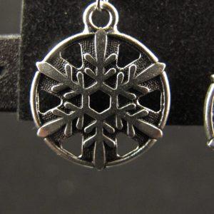 Silver Plated Snowflake Earrings