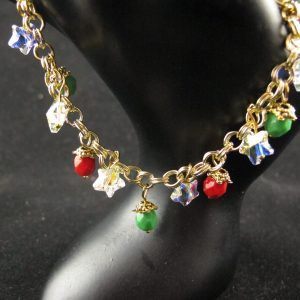 Fire Polish and Swarovski Stars Bracelet