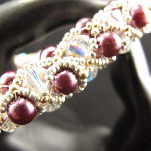 Swarovski Pearls & Crystals Netted Bracelet