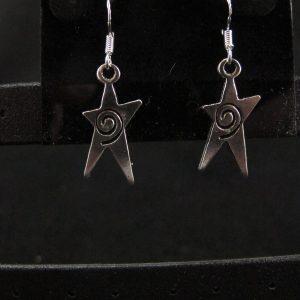 Asymmetrical Stars with Swirl Earrings