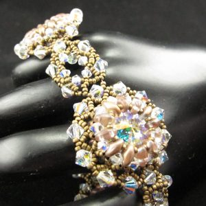 Swarovski AB Rivoli and Crystal Bracelet