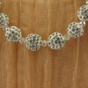 Pave Crystal with Swarovski Spacer Bead